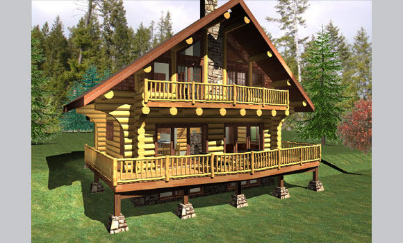 Chalet mountain lot building package in golden british for House building packages